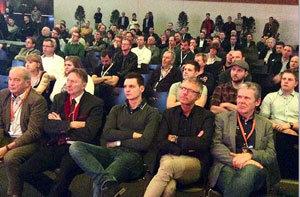 Dichtgedrängte Reihen konnte man im Vortragssaal bei vielen Referaten feststellen.