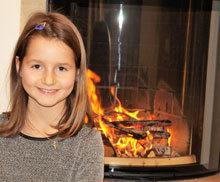 Auch Töchterchen Hannah freut sich auf die Wohlfühlwärme.