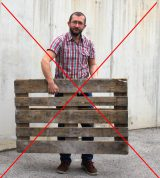 Nein zu Paletten durchgestrichen