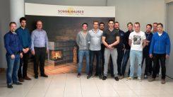 Die zukünftigen Hafnermeister bei Firma Sommerhuber in Steyr. (c) Sommerhuber